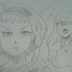 Reina & Melona Queens Blade Pencil Drawing#mypencildrawing