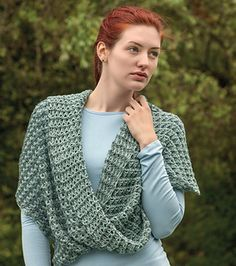 Toss this versatile, oversized Mobius cowl over anything—from T-shirts to sweaters to dresses—for a stylish boutique look. The subtle contrast of the colorplay, the open-work stitches, and the comfortable fit provide a lightweight, year-round accessory.
