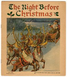 1925 The Night Before Christmas Book