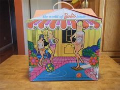 Vintage 1960's The World of Barbie House Carrying Case Furniture Etc   eBay