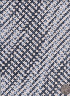 "Check Blue  ""Mosaic Bloom"" designed by Rosalie Dekker."
