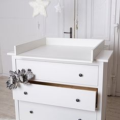 table langer blanche pour commode ikea hemnes httpwwwamazon - Ikea Chambre Bebe Table A Langer