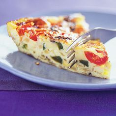 Feed 10 people in 45 minutes. Mushroom, Pepper, and Fontina Frittata.