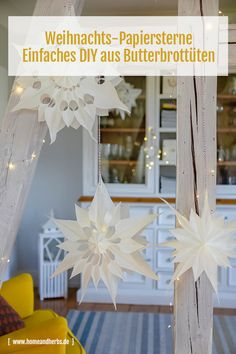 Weihnachtssterne Papiersterne DIY Christmas Paper Crafts, Wooden Christmas Trees, Holiday Crafts For Kids, Christmas Themes, Diy And Crafts, Christmas Decorations, Christmas Ornaments, Homemade Christmas, Origami