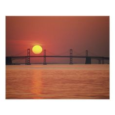 Chesapeake Bay Bridge, Maryland. Posters