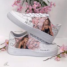 Behind The Scenes By best_customs Cute Nike Shoes, Cute Nikes, Cute Sneakers, Jordan Shoes Girls, Girls Shoes, Sneakers Fashion, Fashion Shoes, Ariana Merch, Basket Style