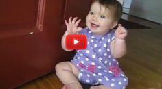 cute baby girl best reaction seeing daddy skype