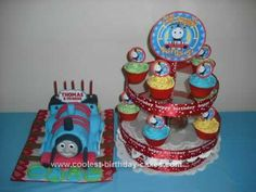 Homemade Thomas the Train Cake Design: My son Carl Thomas just turned 5! (August 9, 2010). Actually, last year his theme on his 4th birthday was also Thomas. Well, obviously he's a certified