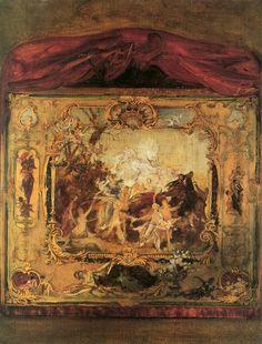 Draft of a Theater Curtain, Gustav Klimt — Bestarts.org
