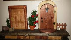 Homemade Wood fairy/elf doors