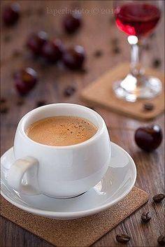 Coffee and cherries