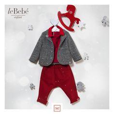 il colore rosso e l'allegria che accende l'attesa del 2018. leBebé enfant... la moda bimbo per un anno di gioia e amore. :) #fieradiesseremamma #lebebé #enfant #modabimbo #capodanno2018
