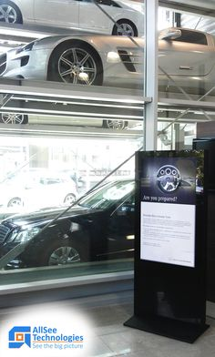 """Mercedes-Benz kit out two of their flagship showrooms with 46"""" Freestanding Digital Posters."""