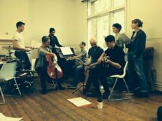 The Nutcracker cast in rehearsal...