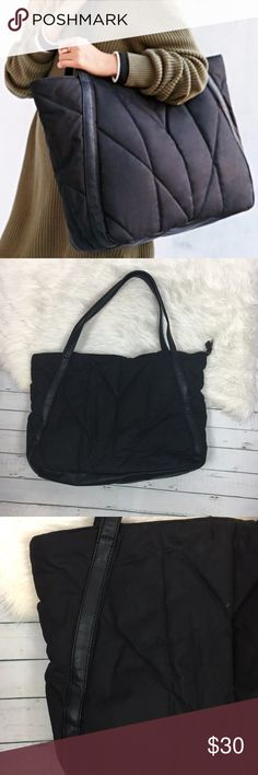 """NEW BDG Urban Outfitters Black Quilted Tote BDG Urban Outfitters women's quilted zippered tote bag in black. New Without Tags. Retail $50  width-22"""" height-15.5"""" depth-4"""" strap drop- 13"""" Urban Outfitters Bags Totes"""