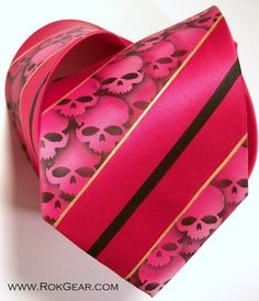 One of a kind mens necktie silk tie airbrushed skull by RokGear, $40.00