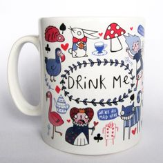 Drink Me - Alice inspired Ceramic Mug (6.50 GBP) by KatieAbeyDesign