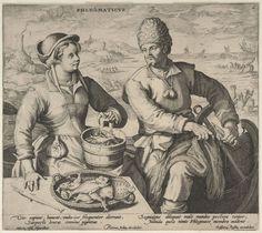 Phlegmaticus by Pieter de Jode (I), ca. 1595 - 1599