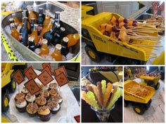 """Tractor+construction+themed+Baby+Shower 
