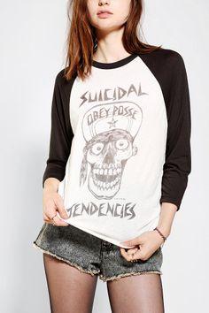 OBEY X Suicidal Tendencies Skull Raglan Tee