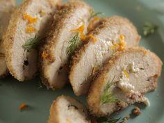Pecan-Crusted Stuffed Chicken recipe from Damaris Phillips via Food Network