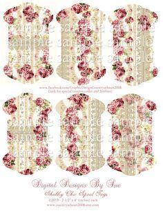 Descarga Instantánea Elegantes lamentables de la cola ETIQUETAS - imprimir collage digital de la Hoja - Scrapbook - Suministros ETIQUETAS