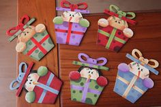 """"""" DELICIAS COUNTRY """": enero 2016 Christmas Wood, Christmas And New Year, Christmas Time, Xmas, Snowman Crafts, Ornament Crafts, Retro Fridge, Diy Magnets, Towel Crafts"""
