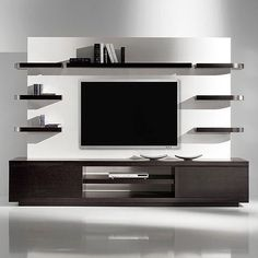 Modern tv wall unit flat screen mount living room projects to try wall decor wall design . Contemporary Tv Units, Modern Tv Wall Units, Post Contemporary, Living Room Wall Designs, Living Room Decor, Living Rooms, Living Room Wall Units, Decor Room, Living Room Ideas India