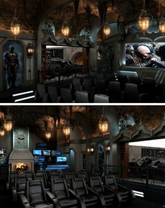 An Extraordinary 'Dark Knight' Home Movie Theater // Batman