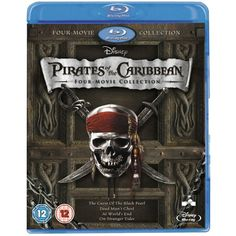 Pirates of the Caribbean Four-Movie Collection [Blu-ray] ($30) ❤ liked on Polyvore featuring movies