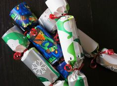 Make your own Christmas crackers with this tutorial.