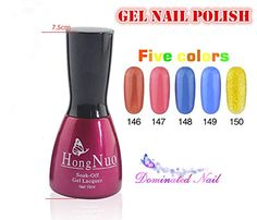 Vip Beauty Shop 2014 NEW 5 Bottles of Different Gel Nail Polish and 1bottle of Basecoat 1bottle of Topcoat High Quality Non-toxic Tasteless Soak Off Colorful Nail Art Uv Gel Polish 15ml 231- *** Learn more by visiting the image link.