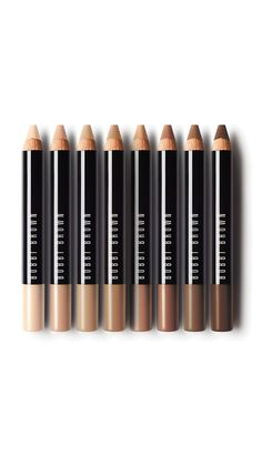 Perfect for on-the-go touch ups: Bobbi Brown Retouching Face Pencil. This creamy-matte pencil lightens shadows, covers dark spots, and neutralizes redness. Use it on bare skin as your all-in-one skin perfector or layer it over foundation for added coverage where you need it — never appearing fake or cakey.