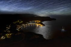 This shot taken summer of 2013 in kithira island in a beautiful night. Under The Stars, Stars And Moon, Great Photos, River, Island, Night, World, Summer, Long Exposure