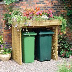 Front Gardens, Outdoor Gardens, Bin Store Garden, Garden Makeover, Garden Structures, Storage Bins, Garden Planning, Garden Projects, Garden Inspiration