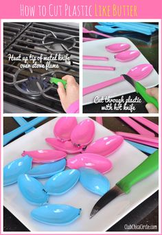 How to melt plastic easily with hot craft knife  www.clubchicacircle.com