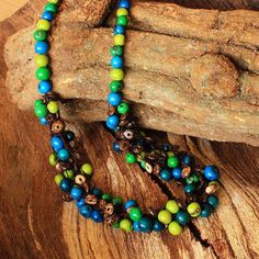 Multi Layer Necklace  Coconut Shell Necklace by ArtisansintheAndes