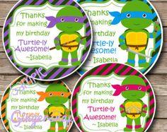 Printable - Ninja Turtle Favor Tag for Girls - Print at home - Teenage Mutant Ninja Turtles Girls
