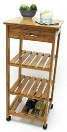 $65 on Amazon.com: Lipper International Bamboo Kitchen Trolley: Furniture & Decor