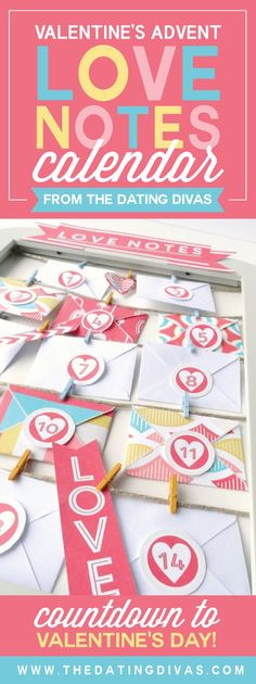 Advent Love Notes Countdown to Valentine's Day with adorable love notes! Countdown to Valentine's Day with adorable love notes! Valentine Day Love, Valentine Day Crafts, Holiday Crafts, Holiday Ideas, Holiday Dates, Day Countdown, Happy Hearts Day, Heart Day, Valentines Day Activities