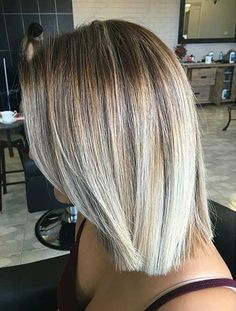 Blonde Blunt Lob Haircut