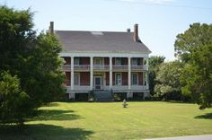 c. 1830 Greek Revival – Hertford, NC – $549 Land's End is a massive two-story brick Greek Revival plantation listed on the National Registry with handsome double porches along the front and rear facades...noted for its craftsmanship sits on 25 open acres. While the 18walls, pocket doors, mantles throughout, wood floors, dairy & smoke houses, summer kitchen.  Views of the water on 3 sides.