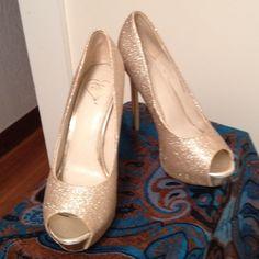 BEBE shoes Glitter gold pumps bebe Shoes