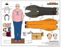 George Bluth, Sr. - Arrested Development - Paper Doll by Kyle Hilton//Arrested Development (2003)