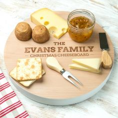 Theres plenty of space to feed the whole family a delicious spread atop the Personalised Christmas Family Extra Large Serving Board. Whether its used for a Christmas brunch, a Christmas Eve supper or . Christmas Brunch, Family Christmas, Personalized Gifts For Her, Serving Board, Food Grade, Laser Engraving, Holiday Parties, Special Occasion, Woodworking
