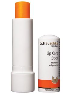Dr. Hauschka Lip Care Stick  Green Product  Shea butter, jojoba, and carrot extract provide intense hydration in a lush, moist bullet, says L.A. makeup guru Monika Blunder. Use it to restore chapped, flaky skin or slick it on at bedtime and wake up to plump, pillowy lips.  $14
