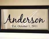 Personalized Family Name Sign Picture Frame 15x12. $39.00, via Etsy.