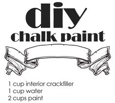 Make your own chalk paint interior crackfiller and water add to paint