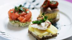 """Top 10 Danish Foods. (one of which is """"Smushi"""" - sushi on the smorrebrod (bread))"""