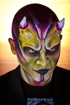 Nix Herrera using EBA Vibe and Endura Paints and Products. Photographed by Eric A. Nelson. #special fx, #body painting, #airbrush body art